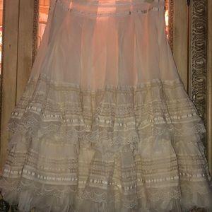 Zara lace ruffled skirt